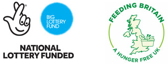 National Lottery Funded / Feeding Britain Logo